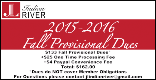 --2015-2016 Fall Provisional Dues
